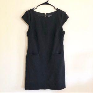 Vince Camuto Black Short Sleeve Shift Dress Sz 6